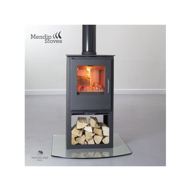 Mendip Stoves Loxton 8 Double Sided Woodburning Stove With Logstore