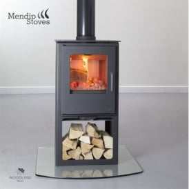 Loxton 8 Double Sided Woodburning Stove With Logstore